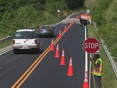 Traffic control Nowra lane closure
