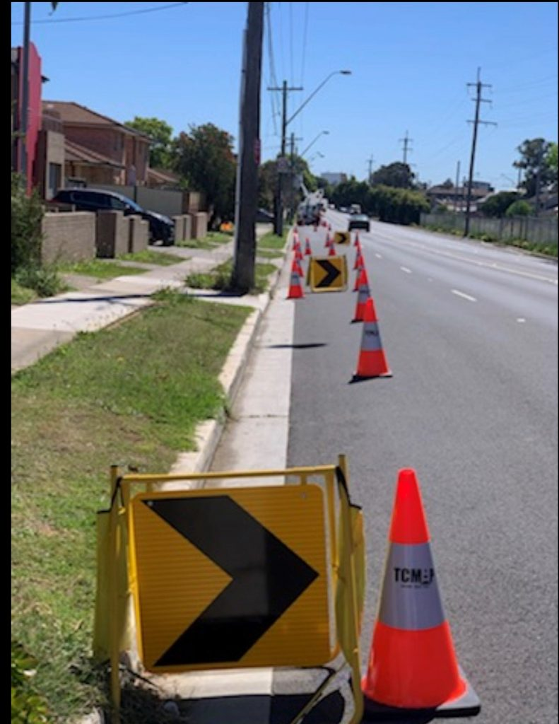On the job - traffic control during NBN infrastructure upgrades in Parramatta